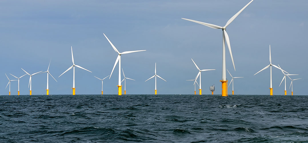 Belwind wind farm, image by Hans Hillewaert, https://commons.wikimedia.org/wiki/File:Belwind.jpg, cropped